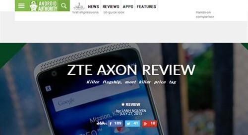 Android Authority:AXON是一款杀手级旗舰